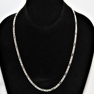 Jewelry - Sterling Silver Italian Figaro Gucci Link Necklace